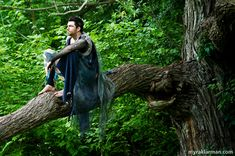 Shakespeare in the Arb: A Midsummer Night's Dream | Oberon (Graham Atkin) observes the action from his lushly wooded perch. Atkin also playe...