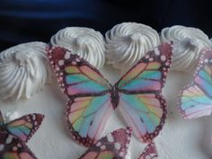 24 RAINBOW MULTICOLORED MONARCH BUTTERFLY Small Medium & Large Edible Butterflies Assorted Set - Cake Decorations, Cupcake Topper for Weddings Birthdays Anniversaries Baby Showers Picture Cake Toppers http://www.amazon.com/dp/B00KERNN08/ref=cm_sw_r_pi_dp_3U1Pub18X11R7