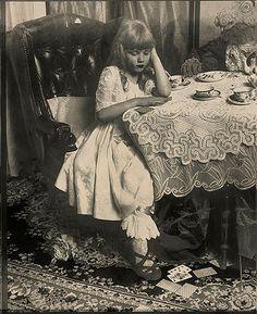 "lewis-carroll: """"Alice in Wonderland"" by Vladimir Clavijo-Telepnev "" Lewis Carroll, Alice Liddell, Old Photos, Vintage Photos, Go Ask Alice, Chesire Cat, Were All Mad Here, Arte Horror, Adventures In Wonderland"