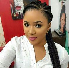 Ghana Braids Hairstyles, Lemonade Braids Hairstyles, African Hairstyles, Girl Hairstyles, Braids Cornrows, Cornrolls Hairstyles Braids, Long Cornrows, 1950s Hairstyles, Trending Hairstyles