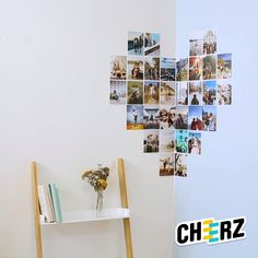 Imprimez vos photos avec Cheerz et confectionnez une super déco personnalisée ! Small Space Interior Design, Interior Design Living Room, Cute Room Decor, Wall Decor, Teenage Room Decor Diy, Aesthetic Room Decor, Photo Wall Collage, Minimalist Bedroom, Diy Wall