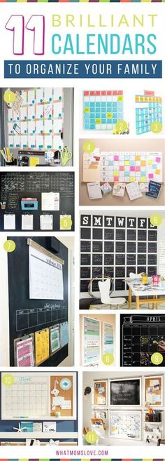 How to create a family wall calendar to organize your life | DIY Calendars and Command Center ideas, plus more tips, hacks and tricks to survive summer with your kids