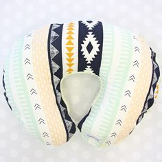 Aztec Gold | Gold and Navy Boppy® Pillow Cover by CadenLaneGifts on Etsy https://www.etsy.com/listing/250204001/aztec-gold-o-gold-and-navy-boppy-pillow