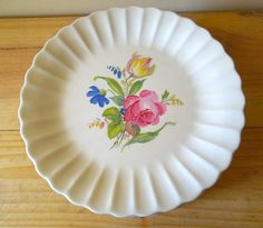 Vintage Dinnerware - American Limoges Sharon Floral Plates - Set of 11