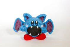 Crochet Zubat Kirby Amigurumi **Made to order** by PersnicketyPrecision on Etsy