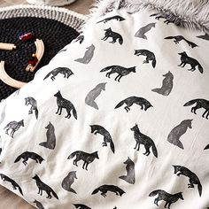 Fox Flanelette Bedlinen Quilt Cover Set