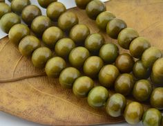 108pc Deep Green Wood Tibetan Buddhism Prayer Necklace  Wood Beads  8MM Round