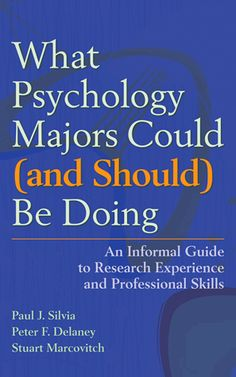 This book shows both grad-school bound and career-bound students how to seek out and make the most of the opportunities available to psychology majors. Psychology Courses, Psychology Studies, Forensic Psychology, Psychology Degree, Psychology Books, School Psychology, Psychology Questions, Psychology Facts, Online College