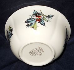 Lenox Winter Greetings Fine Ivory China Fruit/Dessert (Sauce) Bowl--Mint #Lenox
