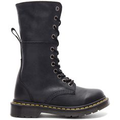 Dr. Martens Hazil Boot (38.900 HUF) ❤ liked on Polyvore featuring shoes, boots, mid-calf boots, midi boots, mid calf boots, oil resistant boots, destroy boots and rubber sole boots