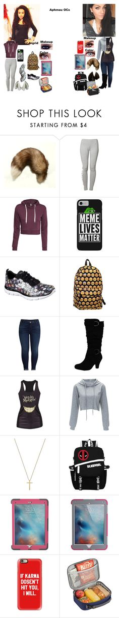 """Ingrid and Mattelle"" by rhiannabliss on Polyvore featuring WWE, Maison Kitsuné, adidas Originals, H&M, Skechers, KUT from the Kloth, Gucci, Marvel, Griffin and Casetify"