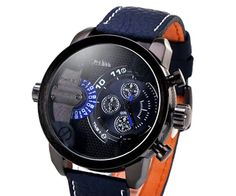OULM Men's Genuine Leather Watch with 2-Movt Quartz Watch WWT-286308 - Wholesale Supplier: TinyDeal