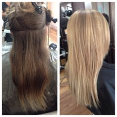 A Lovely Full Head Of Light Blonde Highlights On Our Client By