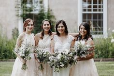 White bridesmaid style inspiration | Image by Elizabeth Wells Photography