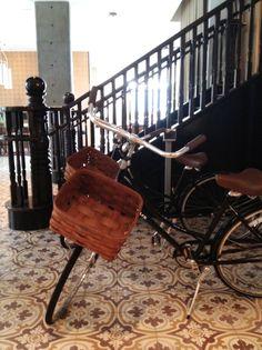 Een gevlochten mand op je fiets, ook leuk!