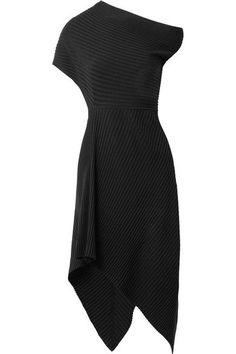 THE ROW Jiana attractive asymmetric ribbed wool-blend midi dress