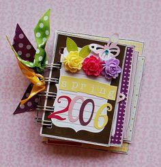 using Echo Park Little Girl journal sheet to create a cute spring mini album.