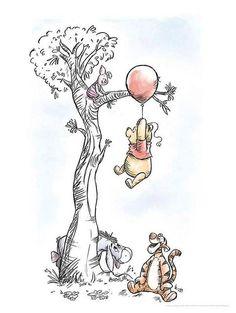 XXL Poster »Winnie Pooh Hang on«