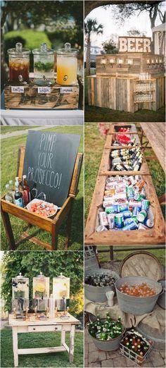 drink station decoration ideas for outdoor wedding ideas #weddingreception #weddingideas #outdoorweddings #backyardwedding