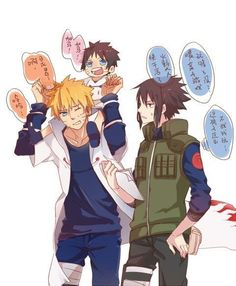 Omg their baby so cute ~ :) #SasuNaru (sc:google+) @fujoshiotaku18