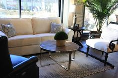 Neutral And Chic Living Room Set American Made Raleigh NC