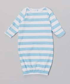Love this Mooncakes Blue Ocean Rugby Stripe Gown by Mooncakes on #zulily! #zulilyfinds
