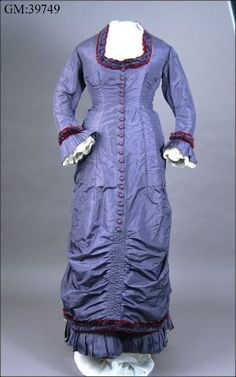 Dress, about 1879, Sweden, front view.