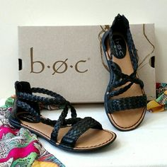 NEW Born Concept Candle Flat Sandals This stylish Born Concepts Candee sandal is a perfect compliment to your casual look this summer! Minimal heel. Cushioned footed bed. Zip closure in back. Man made upper. Synthetic lining and sole. Imported. Born concept  Shoes Sandals