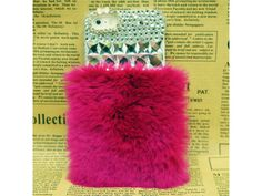 Crystal #Fluffy iPhone 5/5S #Case (Rose #Red)