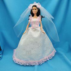 Belle Wedding Dresses, Barbie Wedding Dress, Barbie Gowns, Barbie Hair, Barbie Dress, Barbie Clothes, Barbie Doll, Wedding Gowns, Cute Dresses