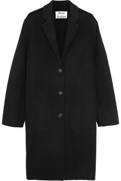 Avalon Doublé oversized wool and cashmere-blend coat | Acne Studios | Black