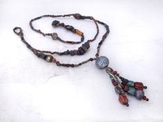 Artisan Necklace by greybirdstudio on Etsy