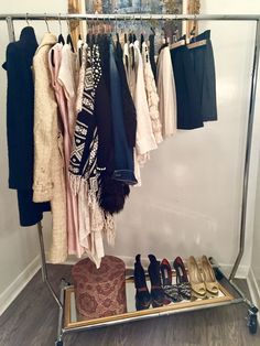 Tidy Fairy Garment Rack Capsule Wardrobe for Exposed Clothing in a Small Space Solution for a Closet Alternative
