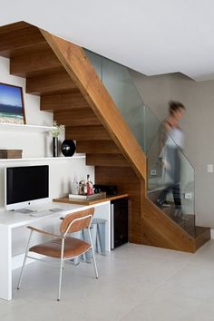 58 Trendy home office space stairs Office Nook, Home Office Space, Home Office Design, Home Office Decor, House Design, Office Ideas, Design Design, Design Ideas, Office Under Stairs