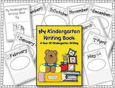 Free Kindergarten Monthly Writing Assessment Books