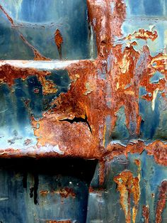 Rust | さび | Rouille | ржавчина | Ruggine | Herrumbre | Chip | Decay | Metal | Corrosion | Tarnish | Texture | Colors | Contrast | Patina | Decay | Steel Blue Rust by Ann Kate Davidson