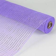 21 Inch x 10 Yards Metallic Mesh - Lavender
