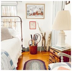 152 Vintage Bedroom Ideas for Your Home Improvement Project This Fall Cozy Room, Cozy Bed, Bedroom 2018, Master Bedroom, Wrought Iron Beds, Old Shutters, Repurposed Items, Bedroom Vintage, Dresser As Nightstand