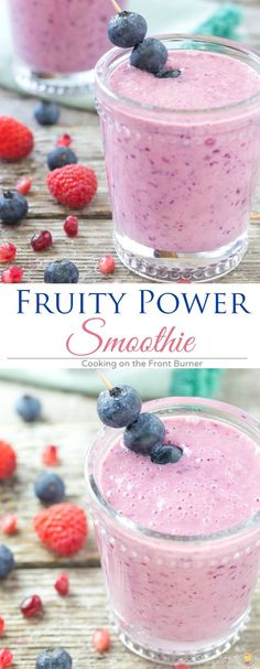Start your day with this Fruity Power Smoothie fortified with calcium recipe.  Good for you and really tasty!