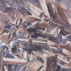 """#1506 metal"" Oil on canvas 40x40 cm #art"