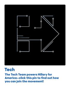 The Tech Team powers Hillary for America—click this pin to find out how you can join the movement!