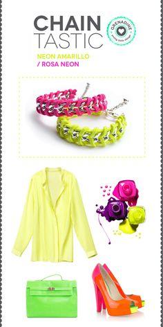 los colores neon estan de moda!  #neon #colors #color #fashion #summer #verano #jewels #jewelry #accessories #bracelets