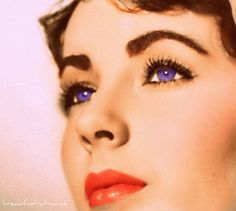 Elizabeth Taylor with violet eyes, is one of the most beautiful women of all.