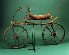 "In 1817, Karl Drais, a young inventor in Baden, Germany, designed and built a two-wheeled, wooden vehicle that was straddled and propelled by walking swiftly. Drais called it the laufmaschine or ""running machine."""