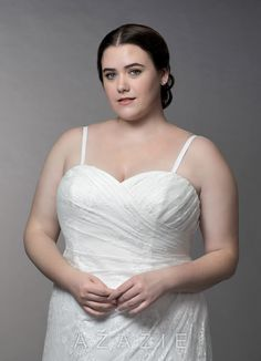 cf24020eba4 Azazie Linda BG Wedding Dress - Diamond White