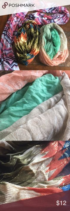 Scarf lot 2 infinity scarfs 1 Regular scarf-NWT Smoke free home Accessories Scarves & Wraps