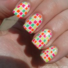 Chiclet Nail Art