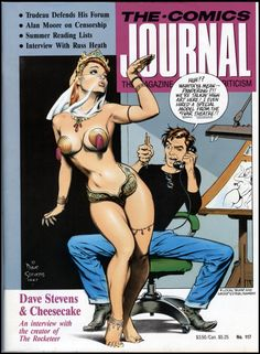 """Comics Journal #117 featured a cover by and interview with (the late) Dave Stevens, at the height of his popularity during the 'Rocketeer' years. The mid-to-late '80s were an amazing time for comics and constitute my """"good ol' days."""""""