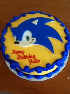 sonic-cake by dpasteles cake shop (San Antonio, TX), via Flickr