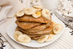 Coconut Pancakes with Maple-Glazed Bananas